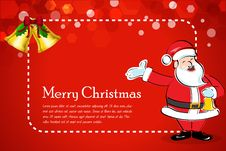 Free Abstract Christmas Card With Santa Royalty Free Stock Photos - 17557968
