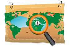 Free Map With Compass And Lens Royalty Free Stock Image - 17557986