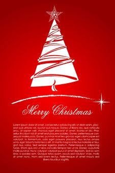 Free Abstract Merry Christmas Card Royalty Free Stock Images - 17558019