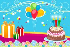 Free Abstract Birthday Card Stock Images - 17558044