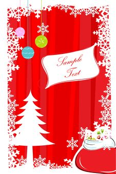 Free Abstract Merry Christmas Card Stock Photos - 17558053