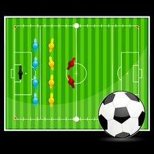 Free Soccer Ball With Ground Display Royalty Free Stock Image - 17558146