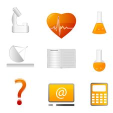 Free Science Icons Stock Image - 17558161