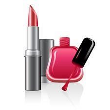 Free Nail Polish And Lipstick Royalty Free Stock Photo - 17558165