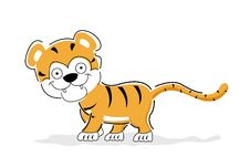 Free Cheerful Tiger Royalty Free Stock Image - 17558176