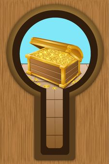 Free Treasure Chest With Coins Royalty Free Stock Photography - 17558217