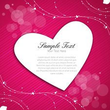 Free Abstract Valentine Card Royalty Free Stock Image - 17558456
