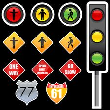 Free Traffic Signs Stock Image - 17558481