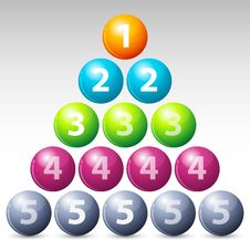 Colorful Number Balls Stock Photo
