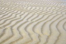 Sand Beach Ripple Stock Images
