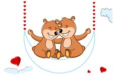 Free Loving Teddy Bears Stock Photos - 17558543