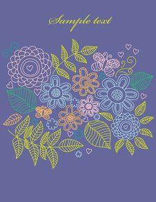 Free Vintage Floral Background Stock Images - 17558804