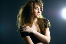 Free Portrait Of The Beautiful Girl Stock Photos - 17558863