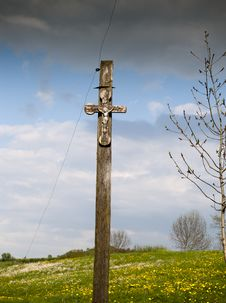 Free Crucifix In Field Stock Photos - 17558903