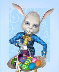 Free The Easter Bunny Has Eggs To Share! Stock Photos - 17558973