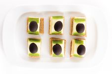 Free Appetiser With Olives Royalty Free Stock Photos - 17559198