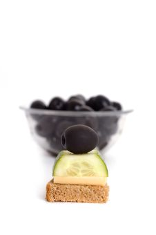 Free Appetiser With Olive Stock Photo - 17559210