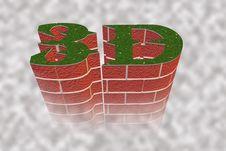 3d Grass & Brick Royalty Free Stock Photography