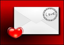 Free Of A Love Letter Stock Photography - 17559822