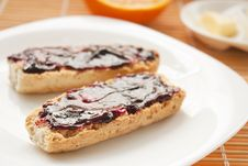 Free Breakfast With Butter And Jam Stock Photography - 17559932