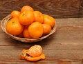 Free Ripe Tangerine Fruits In Basket Stock Image - 17561151