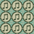 Free Cute Musical Pattern Royalty Free Stock Images - 17564389