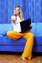 Free Woman Working With PC Stock Photography - 17569212
