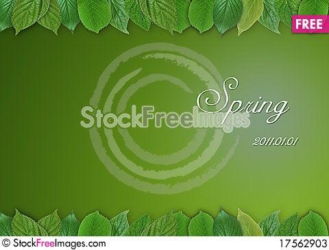 Free Spring Leaf Stock Photos - 17562903