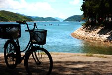 Free The Bike With Beach Stock Photography - 17562282