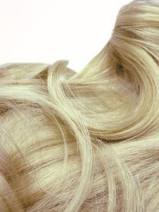 Blond Hair Texture Royalty Free Stock Image