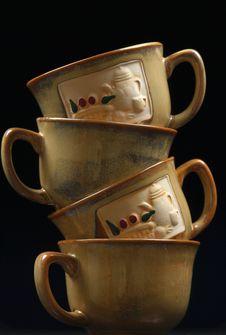Tea Cups Balance Stock Photos