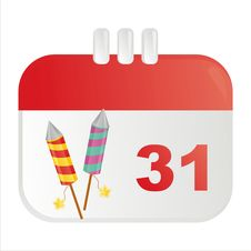 Free New Year Calendar Icon Royalty Free Stock Image - 17564376