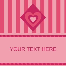 Free Cute Hearts Frame Royalty Free Stock Photo - 17564385