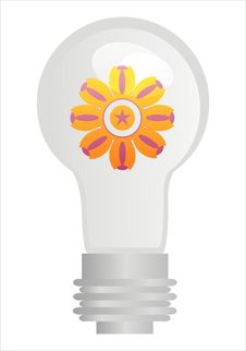 Free Eco Lamp With Flower Stock Photos - 17564403