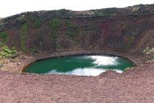 Iceland Volcano Kerid Royalty Free Stock Image
