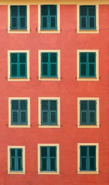 Free Windows In Camogli Stock Photography - 17564652