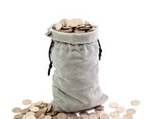 Free Bag Of Coins Stock Photo - 17564740
