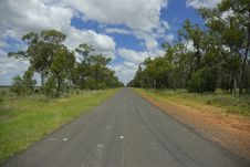 Long Straight Road Stock Photography
