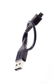 Free Black USB Cable Stock Image - 17565421