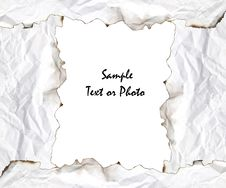 Free Burnt Edge Paper Frame Royalty Free Stock Photography - 17566677
