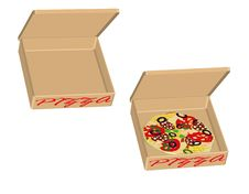 Free Pizza Box Royalty Free Stock Images - 17566699