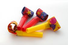 Free Party Blowers Royalty Free Stock Photos - 17567158