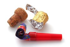 Free Champagne Cork, Foil And Blower Stock Images - 17567174