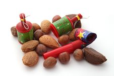 Free Mixed Nuts With Party Blowers And Poppers Royalty Free Stock Photos - 17567188