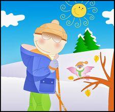 Free Skiing Boy Stock Photo - 17569610