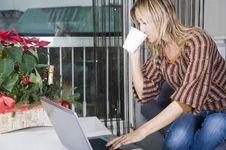 Free Happy Working Woman Stock Image - 17569841