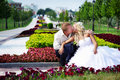 Free Happy Bride And Groom At Wedding A Walk In Park Royalty Free Stock Photography - 17572237