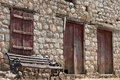 Free Greek Traditional House And Bench Royalty Free Stock Photos - 17575548
