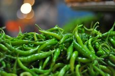 Free Green Chillies Stock Image - 17570421