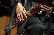 Free Bassoonist On Concert Stock Photography - 17570592